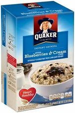 QUAKER Instant Oatmeal BLUEBERRIES & CREAM (10 pack in 1 box)  FAST SHIP
