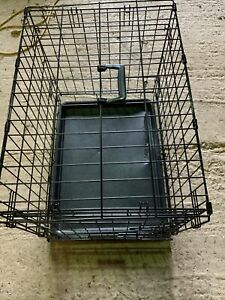 """Dog Cage Puppy Pet Crate Carrier - Large 24"""" X 17"""" Metal"""