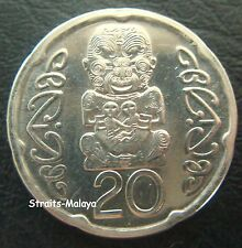 NEW ZEALAND QE 2008 20 CENTS COIN