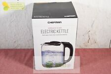 Chefman 1.7L Cordless Glass Electric Kettle - Clear