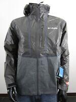 Mens Columbia Outdry Explorer Hooded Hybrid Waterproof Rain Jacket NWT - Black
