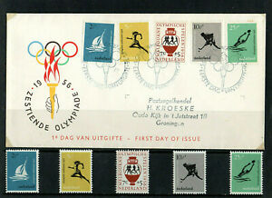 NETHERLANDS - 1956 - MELBOURNE OLYMPIC GAMES - MINT STAMPS & FIRST DAY COVER