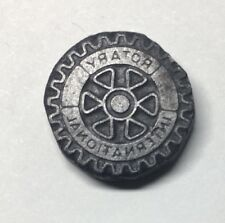 Vintage Letterpress Printing Press Block Rotary International Symbol METAL Stamp