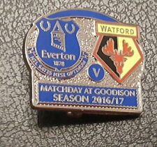 Everton v Watford Matchday Pin Badge Season 2016/17 Last Home Game