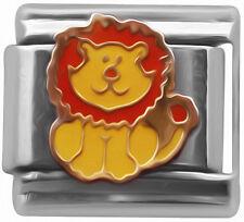 Happy Lion Italian Charm - classic 9mm link   (D36)