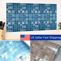 Self-adhesive Wall Paper Sticker Tile Contact Paper Bathroom Waterproof USA