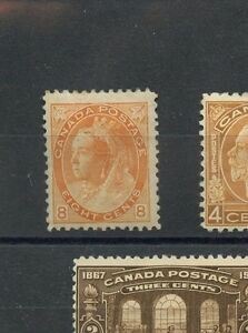8c orange Cat $600 VF MHH Early QV to 1930's MH lot low price Canada mint