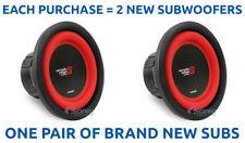 """NEW! (2) CERWIN VEGA V82DV2 1500W 8"""" VEGA SERIES Dual 2 Ohm Car Subwoofers/Subs"""