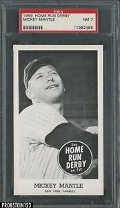 1959 Home Run Derby SETBREAK Mickey Mantle The Rarity PSA 7 POP 2 ONLY 1 HIGHER