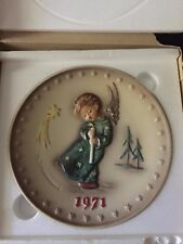 M. J. Hummel Plate: 1971 1st Edition Annual Plate #264 | Holiday Angel