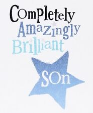 THE BRIGHT SIDE GREETING CARD: COMPLETELY AMAZINGLY BRILLIANT SON - NEW