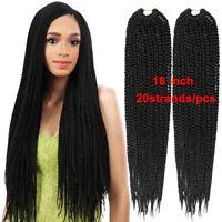 "18""  Synthetic BOX Braids Twist Crochet Senegalese Jumbo Braids  Hair Extensions"