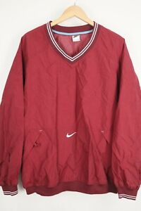 VTG Nike White Tag Pullover Lightweight Windbreaker Embroidered Swoosh XXL