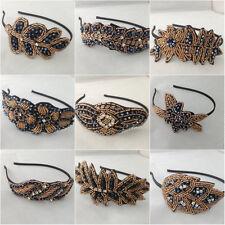 Vintage Beaded Head Piece Headband Bridal Flapper Great Gatsby Prom