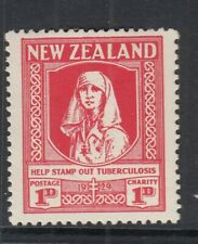 NEW ZEALAND SG544 1929 ANTI-TUBERCULOSIS FUND MTD MINT