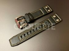 Genuine Citizen 22mm Black Leather Watch Band for Promaster Nighthawk BX1010-02E