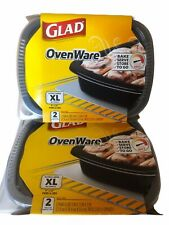 Lot Of 2 Glad OvenWare Food Storage Containers Xl Rectangular 9x12 96 oz