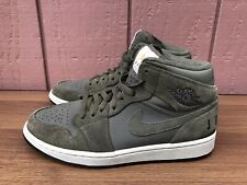 Nike Air Jordan 1 Retro Mid OLIVE CANVAS Men 8.5 Basketball Shoes BQ6579-300 C8