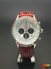 Sport Montres pour homme cuir bracelet montre à quartz pr Audi Q5 Q7 A6 blanc