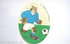 VECCHIO ADESIVO 1982 / Old sticker RALLY BENZINA ESSO TIGRE CALCIO (cm 10x13)