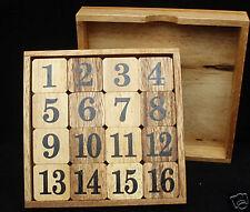 Magic Square 34 & the 15 wood math brain teaser puzzles