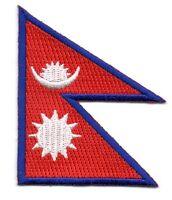 Toppe Toppa PATCH NEPAL 7x4,5cm Bandiera banderina ricamata termoadesivo