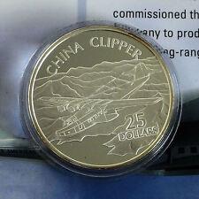 CHINA CLIPPER 2003 1oz $25 .999 FINE SILVER PROOF SOLOMON ISLANDS - coa