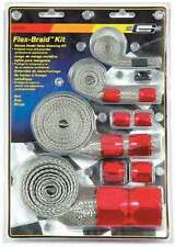 Engine compartment dress up Red Flex-Braid hose fitting sleeve kit and fittings