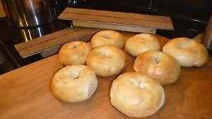 Bagel Boards (set of 3) Bake authentic bagels at home. (burlap, cedar, aluminum)