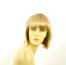 Perruque femme courte blond doré méché blond très clair  FLORENCE 24BT613