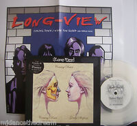 """LONG VIEW ~ Coming Down ~ GATEFOLD 7"""" Single PS CLEAR VINYL + POSTER"""