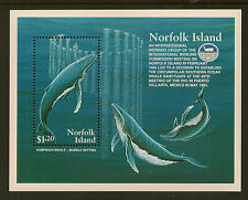NORFOLK ISLAND:1995 Humpback Whales m/sheet SG MS590 unmounted mint