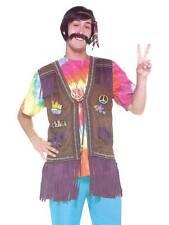 pour hommes femmes 1960s années 1970 HIPPIE PEACE gilet costume déguisement neuf