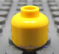 NEW Lego Classic YELLOW MINIFIGURE HEAD Plain/Blank/Standard Minifig -Light/Lamp
