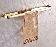 Gold Color Brass Single Towel Bar Rack Bathroom Wall Mounted Towel Holder aba843