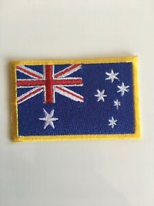 Australia Flag Patch Embroided - Iron On / Sew / Stitch - Aussie Badge