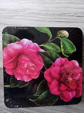 6 Kork Untersetzer--wunderschönes Blumen-Motiv--Kamelie--Neu + OVP