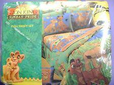 NEW 4 piece Disney's LION KING 2 FULL Sheet set  Kiara and Kovu