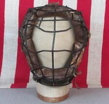 Vintage Baseball Catchers Face Mask Antique Spiderman Metal Cage Small Youth Sz.