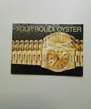 BOOKLET YOUR ROLEX OYSTER ANNO 1996 USA