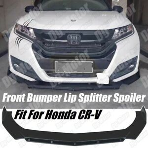 Fits Honda CR-V CRV LX SE EX AWD Front Bumper Lip Splitter Spoiler 2006-2021