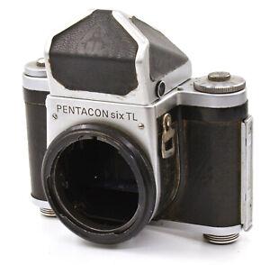 Pentacon SIX TL 6x6 Medium Format Film Camera Body w/ Prism Finder! Read!