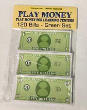 120 Bills - Play Pretend Money - Green set
