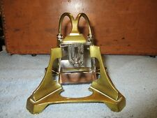 Great antique Modern Industrial Design Art Deco Brass and Glass Inkwell