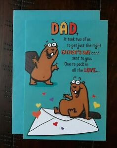 HAPPY FATHER'S DAY CARD - Hallmark Greeting Card - Funny - Dad It Took Two of Us