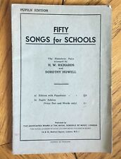 Fifty Songs for Schools (Pupils Edition) UK 195? Booklet
