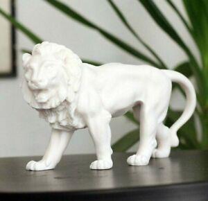 Lion Statue, Marble Sculpture, Lion Figurine, Animal Figure, 25cm-10in