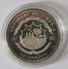 Silbermünze 20 Dollar Republic of Liberia - Kobenhavn - 999Silber 20 Gramm - A11