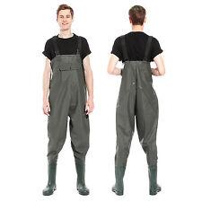 Bundwathose Pantalones Wat con Botas Pantalón de Pescador para Verde 39-47