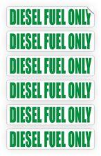 6-pack DIESEL FUEL ONLY Vinyl Decals   Stickers   Gas Door Labels Turbo Marker